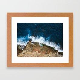 An aerial shot of the Salt Pans in Marsaskala Malta Framed Art Print