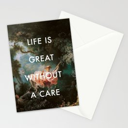 Swing Without A Care Stationery Cards