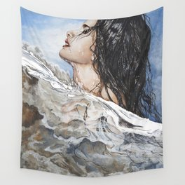 Head Above Water Wall Tapestry