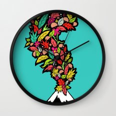 Volcanic Autumn Wall Clock