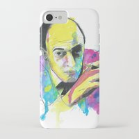 roald dahl iPhone & iPod Cases featuring Roald Dhal Watercolor by Enerimateos