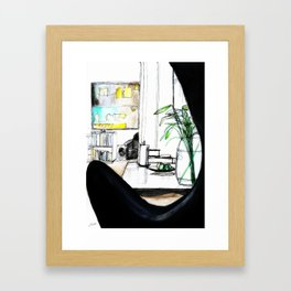 View From The Chair Framed Art Print