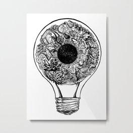 Turn On The Light (B&W) Metal Print