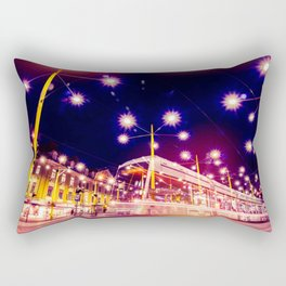 Night view of Station at  Graz , Austria. Rectangular Pillow