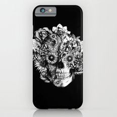 Floral Ohm skull from hand and digital illustration.  iPhone 6s Slim Case