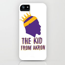 Lebro James the kid from akron iPhone Case