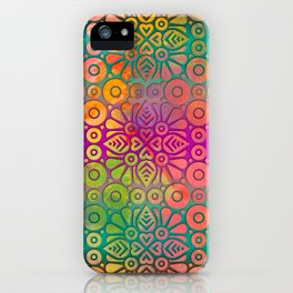 DP050-2 Colorful Moroccan pattern iPhone Case