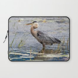 Heron wading Laptop Sleeve
