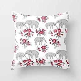 Alabama university crimson tide elephant pattern college sports alumni gifts Throw Pillow