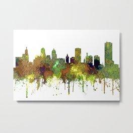 Buffalo, New York Skyline - SG Safari Buff Metal Print