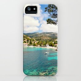 The famous village Assos in Kefalonia island, Greece iPhone Case