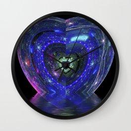 Magic Blue Heart Wall Clock