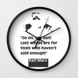 Karl Marx quote 2 Wall Clock
