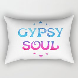 Gypsy Soul Mystical Stars Ombre Tie Dye Blue Pink Rectangular Pillow