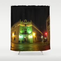 merida Shower Curtains featuring Merida University by Annaelle
