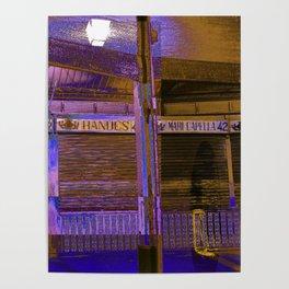 Abandoned Spanish Market in Valencia Poster