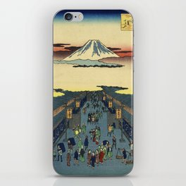 Ando Hiroshige  -  Suruga Cho iPhone Skin