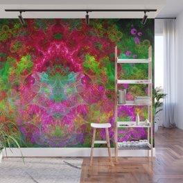 Hallucinogenic Hibiscus Flowers Wall Mural