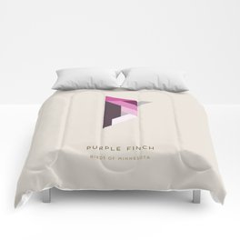 Purple Finch Comforters