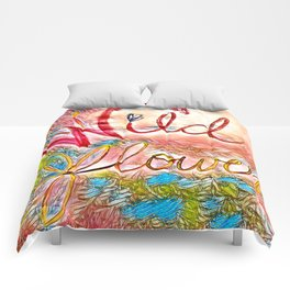 Pink Pastel Wildflower Comforters