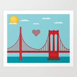 west to east Art Print