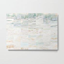 Beach Tiles Metal Print