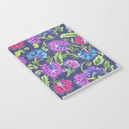 Festive Floral Navy Notebook