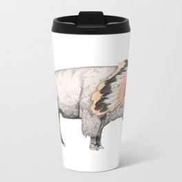 White Bison Metal Travel Mug