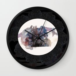 Psychedelic Wolves Wall Clock