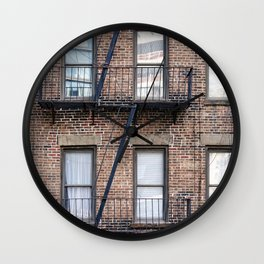 New York Fire Escape Wall Clock