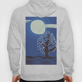Tree in the moonlight Hoody