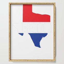 Beto Texas Red White Blue Patriotic T-Shirt For US Senate Senator Democrat Turn Texas Blue Democratic Party Serving Tray