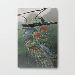 Salmon Trap Metal Print