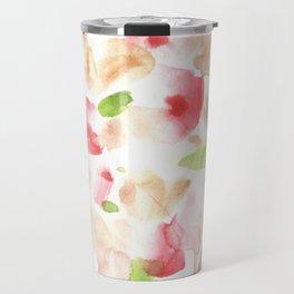 170722 Colour Loving 1 Modern Watercolor Art   Abstract Watercolors Travel Mug