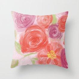Rosey Throw Pillow
