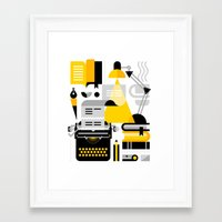 writing Framed Art Prints featuring Creative Writing by koivo