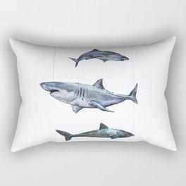 Four Sharks - by Fanitsa Petrou Rectangular Pillow