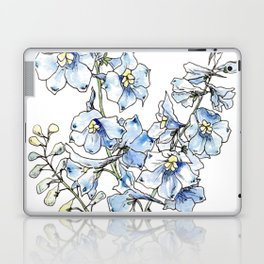 Blue Delphinium Flowers Laptop & iPad Skin