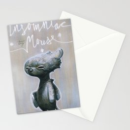 Insomniac Mouse Stationery Cards