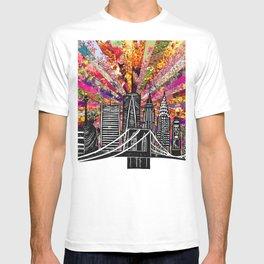 Linocut New York Blooming T-shirt