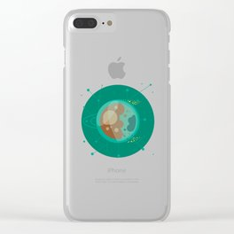 Planet D - Trappist System Clear iPhone Case