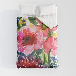 my floral garden in watercolor Comforters