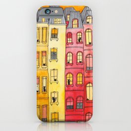 The Sunset Townhouse Block iPhone Case