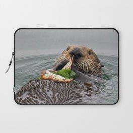 Sea Otter Crab Breakfast Laptop Sleeve
