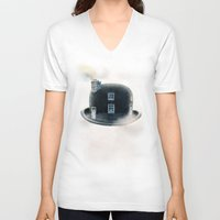 dreamer V-neck T-shirts featuring Dreamer by Eric Fan