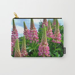 Rose Lupins in the Garden Carry-All Pouch