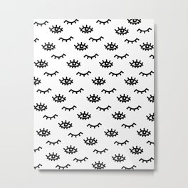 Eyelash Wishes Metal Print