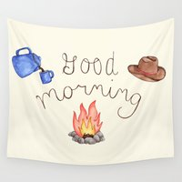 good morning Wall Tapestries featuring Good Morning by Brooke Weeber