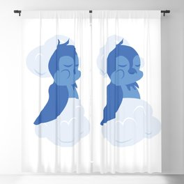 Bird Sleeping In The Clouds Blackout Curtain