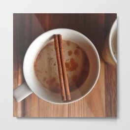 Pumpkin Spice Coffee Metal Print